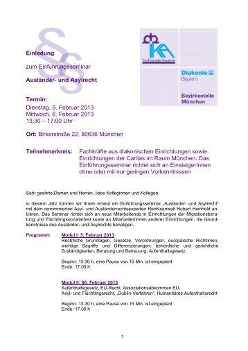 einladung zum ika workshop: - innere mission münchen, Einladungen