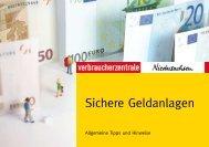 Sichere Geldanlagen - Verbraucherzentrale Niedersachsen