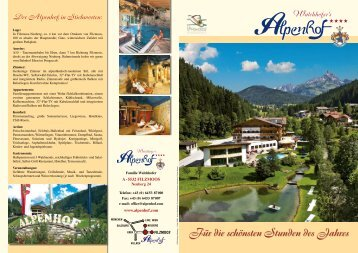 Für die schönsten Stunden des Jahres - Hotel Alpenhof