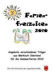 Kinder- und Jugendreisen Strausberg - im Landkreis Märkisch ...