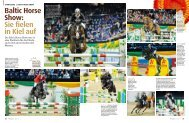 Baltic Horse Show: Sie fielen in Kiel auf - Pferd+Sport