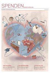 Spenden macht glücklich – Das Spendenmagazin von Zewo und Swissfundraising.