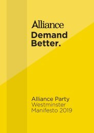 Alliance Party Manifesto