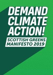Scottish Greens Manifesto 2019