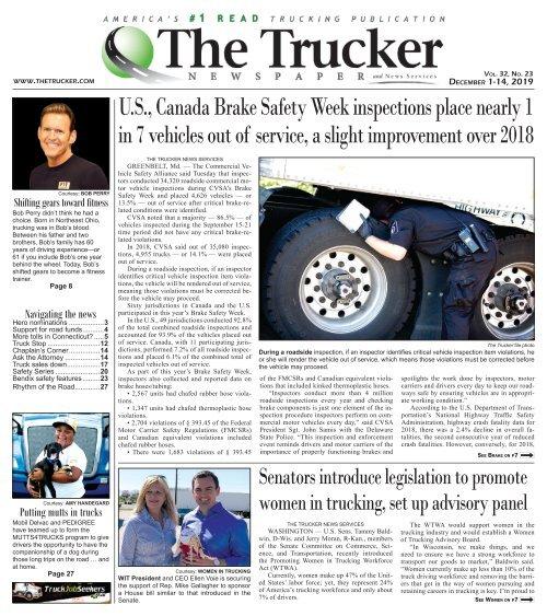 The Trucker Newspaper - December 1, 2019