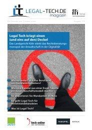 Legal Tech-Magazin 1/19