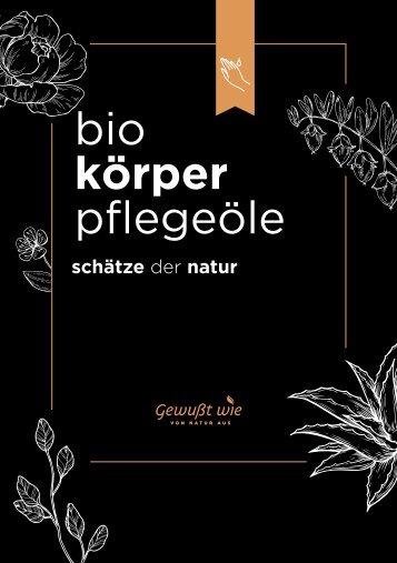 Bio Körper Pflegeöle