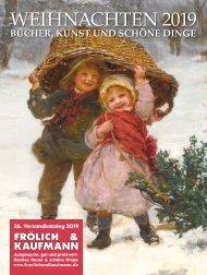 Frölich & Kaufmann 26. Versandkatalog 2019 Weihnachtskatalog