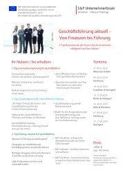 Lehrgang: Geschäftsführung aktuell – Von Finanzen bis Führung