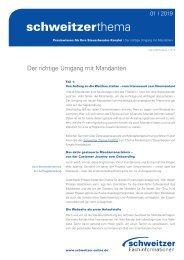 Schweitzer Thema für Steuerberater 1/19 Mandantenbindung