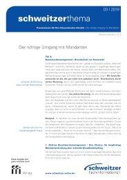 Schweitzer Thema für Steuerberater 3/19 Mandantenbindung