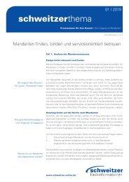 Schweitzer Thema für Rechtsanwälte 1/19 – Mandantenbindung: Mandanten finden, binden und serviceorientiert betreuen