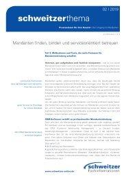 Schweitzer Thema für Rechtsanwälte 2/19 Mandantenbindung