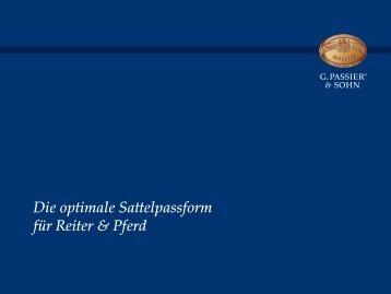 Die optimale Sattelpassform für Reiter & Pferd - G. Passier & Sohn