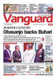 27112019 - BORDER CLOSURE: Obasanjo backs Buhari