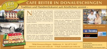 CAFE REITER IN DONAUESCHINGEN