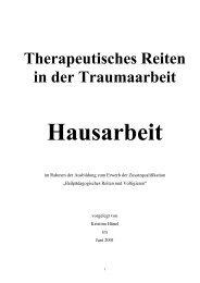 Therapeutisches Reiten in der Traumaarbeit - Kristina Hänel