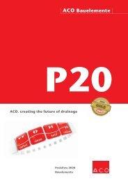 ACO Österreich Bauelemente Preisliste 2020 - Gesamt