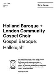 2019 12 01 Holland Baroque + London Community Gospel Choir