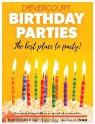 Dovercourt Birthday Party flyer