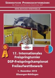 DSP-Freispringchampionat am 1. Dezember 2019