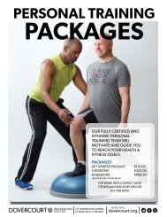 Dovercourt Personal Training packages