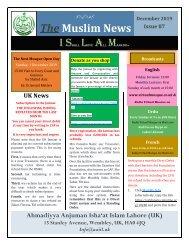 Muslim News No 87 December 2019
