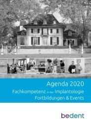 bedent Agenda 2020 Fortbildungen & Events