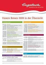 Engeloch Reisen Übesicht Reisen 2020