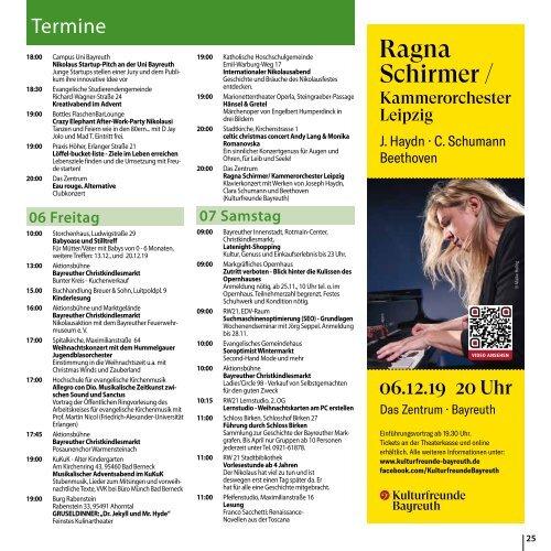 Bayreuth Aktuell Dezember 2019