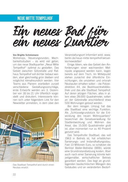 Das Kunden Magazin der Berliner Bäder - Ausgabe 04/2019