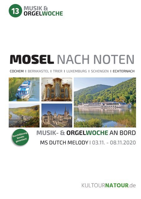 13. Musik- & Orgelwoche 2020 • Mosel nach Noten