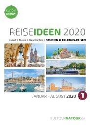 REISEIDEEN 2020 • Der neue Katalog der Kultour&Natour Touristik