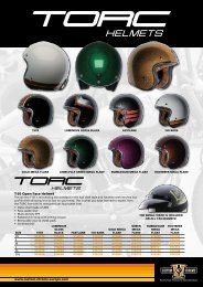 TORC HELMETS & GLOVES