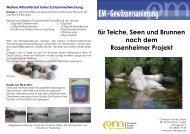 für Teiche, Seen und Brunnen nach dem ... - EM-Chiemgau