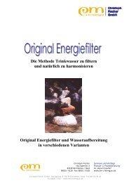 Original Energiefilter - EM-Chiemgau