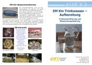 EM Kin Trinkwasser – Aufbereitung - EM-Chiemgau