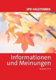 Halstenbek – Informationen und Meinungen (November 2019)