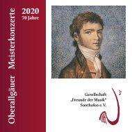 Oberallgäuer Meisterkonzerte Programm 2021