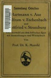 Hartmann von Aue, Wolfram von Eschenbach und ... - Scholars Portal