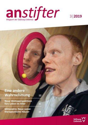 Anstifter 3, 2019 der Stiftung Liebenau