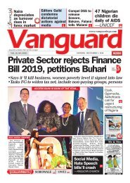 02122019 - Private Sector rejects Finance Bill 2019, petitions Buhari