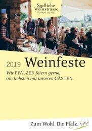 Weinfestkalender Südliche Weinstraße 2019