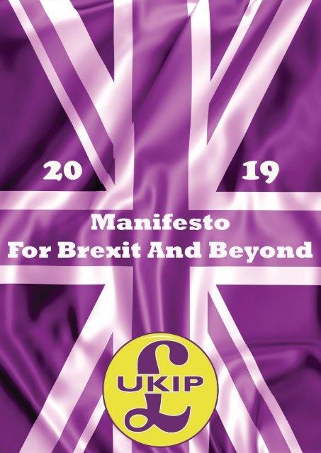 UKIP Manifesto 2019