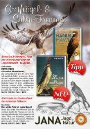 Greifvögel & Eulen, Fachbücher zur Falknerei und Beizjagd