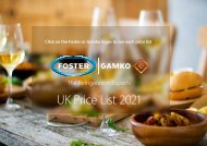 2020 Foster and Gamko Regional UK Price List