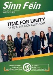 Sinn Fein 2019 Manifesto