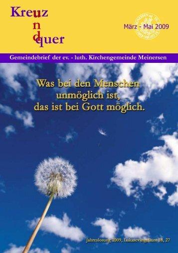 Kreuz quer u n d - Ev.-luth. Kirchengemeinde Meinersen