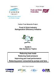 Food & Drink Industry Refrigeration Efficiency Initiative Guide 5 Site ...