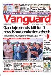 03122019 - Ganduje sends bill for 4 new Kano emirates afresh